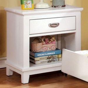 041NS Night Stand - Center Metal Glides Drawers<br><br>