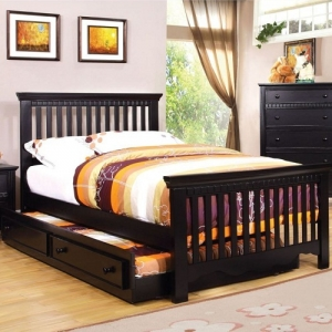 Item # 081FB Full Bed - Finish: Black<br><br>Foundation Required<br><br>Available in Twin Size<br><br>Dimensions: 80 1/8