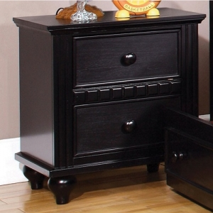 044NS 2 Drawer Nightstand - Transitional Style<br><br>Round Drawer Handles<br><br>Durable Center Metal Glides<br><br>Extra Strength English Dovetails<br><br>