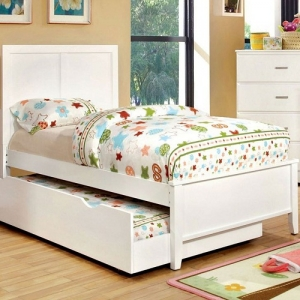 130T White Twin Bed
