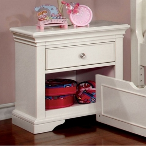 034NS Night Stand - Transitional Style <br><Br>Attractive Molding<br><Br>Round Nickel Knobs & Bracket Feet<br><Br>