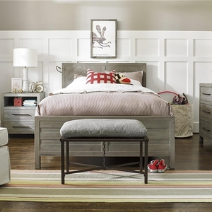 012FB Grey Full Reading Bed  - Available in Twin Size<br><br>Features Snake Light<br><br>Plywood slat roll bed foundations, stronger than wooden slats<br><br>Adjustable levelers<br><br>High-low bed rail positioning<br><br>Bed rails bolt firmly together, no