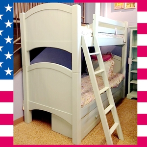 Item # US0011 Twin over Twin Haley Arch bed - Made in USA<br><br>Durable & Super Strong<br><br>Available in 33 Different Color<br><br>Modifications Available<br><br>Made to order<br><br>Optional Storage or Trundle<br><br>Available in Twin, Full or Queen Size