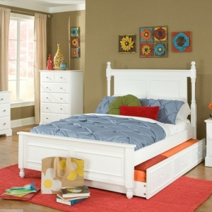 Item # 0980FB Captains Bed - *Also Available in Twin*<br><br>Full Bed with Twin Trundle<br><br>Dovetailed Drawers and Metal Glide<br><BR>