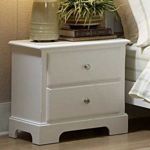 042NS Night Stand - Molded Drawer Fronts<br><br>Satin Nickel Knobs<br><br>