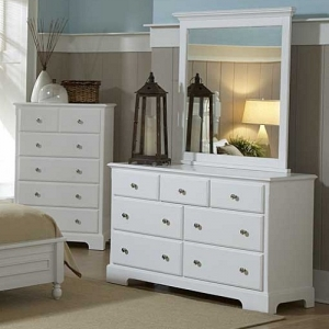 Item # 058DR 7 Drawer Dresser - *Mirror Not Included*<br><br>Molded Drawer Fronts<br><br>Satin Nickel Knobs<br><br>