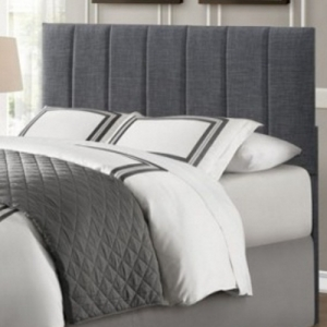 Item # 115HB Headboard - Queen/Full Headboard<br><br>Grey fabric with vertical channel seaming<br><br>