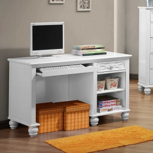 Item # 115D Writing Desk - FInish: White<br><br>Dimensions: 46.5 x 23.5 x 30.25H