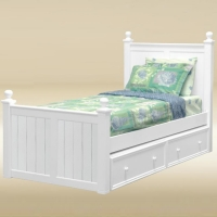 0243 Twin Bed in White - *Underneath Storage Sold Separately*