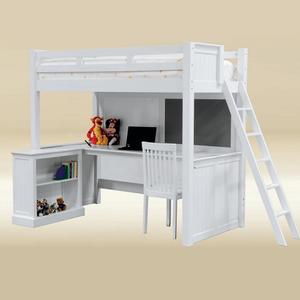 LB008 Bryan College loft bed - Available in Dark Cherry, White, & Dark Cherry