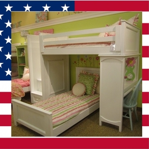 Item # US0004 Lindsay loft bed - Made in USA<br><br>Durable & Super Strong<br><br>Available in 33 Different Color<br><br>Made to order<br><br>Modifications are available<br><br>Sizes Available: Twin/Full/Queen