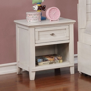 272NS White Night Stand - Style Transitional<br>