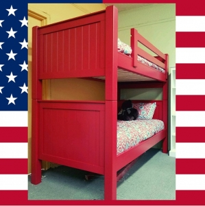 Item # US0001 Twin over Twin bunk bed - Made in USA<br><br>Durable & Super Strong<br><br>Available in 33 Different Color<br><br>Made to order<br><br>Modifications are available<br><br>Sizes Available: Twin/Full/Queen