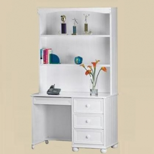 Item # A0008D - Finish: White<br><br>Available in Birch, Black, Blue, Dark Pecan, Pecan, and Walnut finish<br><br>Hutch Sold Separately<br><br>Dimensions: 43 7/8