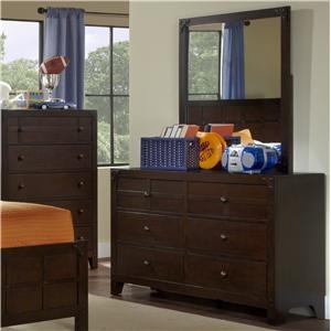 Item # 111DR 6 Drawer Dresser - Finish: Dark Walnut<br><br>*Mirror Sold Separately<br><br>*Dimensions: 52