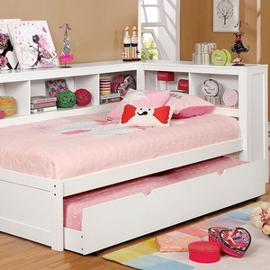 093DB Twin Day Bed - Style Transitional<br> Color/Finish White<br> Material Solid wood, others, wood veneer<br> Product Dimension<br> Twin DayBed 88 3/8