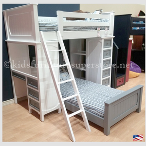 Item # US0039 - Optional Bottom Bed<br><br>Made in USA<br>Durable & Super Strong<br>Available in 33 Different Colors<br>Made to order<br><br>Modifications are available<br>Sizes Available: Twin/Full/Queen