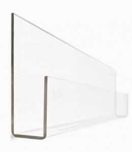 Item # 129BC Bookshelf - Clear Acrylic<br><br>Dimensions: 8.6