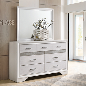 Item # A0006M - Finish: White<br><br>Available in Black Finish<br><br>Dresser Sold Separately<br><br>Dimensions: 46.50W x 1D x 36.50H