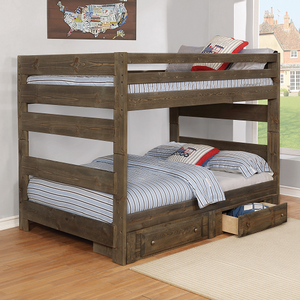 Item # A0006FF - Finish: Gun Smoke<br>Available in Twin/Twin & Twin/Full Bunk Bed<br><br>Dimensions: 80W x 59D x 64H