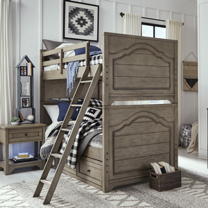 Item # A0014TT - Finish: Old Crate Brown<br><br>Available in Twin/Full Bunk Bed<br><br>Dimensions: 80W x 67D x 71H