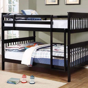 Item # A0016FF Full/Full Bunk Bed w/ Bunk to Bunk Ladder - Finish: Black<br><br>Available in White<br><br>Available in Twin/Twin & Twin/Full<br><br>**Optional Storage Trundle<br><br>Slat Kit Included<br><br>Dimensions: 79.75