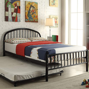 Item # A0016MB - Twin Iron Bed<br>Available in Full Size<br>Finish: Black<br>Available in White, Blue & Silver Finish<br>Dimensions: 79 x 39 x 33H