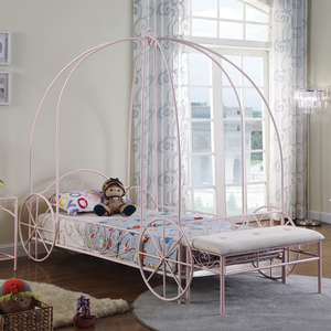Item # A0017MB - Metal Finish: Powder Pink<br>Dimensions: 42.5W x 88D x 78.75H