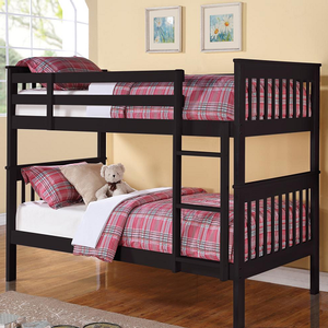 Item# A0015TT - Finish: White<br><br>Available in Black finish<br><br>Available in Twin/Full Bunk Bed<br><br>Dimensions: 79.25W x 44.50D x 60.75H