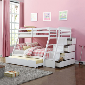 Item # A0074TF - Finish: White<br><br>Available in Espresso<br><br>Slat Kit Included<br><br>Trundle Included<br><br>Dimensions: 98