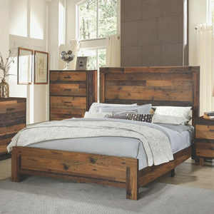 Item # A0089T - Finish: Rustic Pine<br>Available in Dark Grey Oak Finish<br><br>Available in Full Size<br><br>Dimensions: 56.25W x 79D x 50.25H