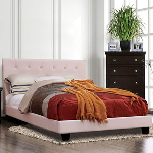 Item # A0122T - Finish: Blush Pink Flannelette<br><br>Available in White Leatherette & Black Leatherette<br><br>Dimensions: 80 1/2L x 42W x 41 1/4H