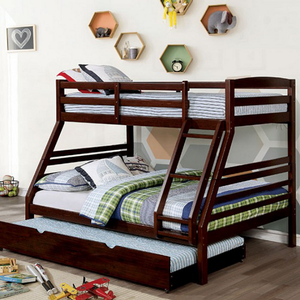 Item # A0012TT Twin/Full Bunk Bed - Finish: Dark Walnut<br><br>Available in White finish<br><br>Dimensions: 78 1/8L x 58 5/8W x 62 1/4H