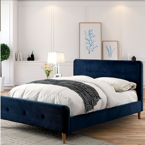 Item # A0152T - Finish: Navy Blue<br>Available in Full Size or Queen Size<br>Available in Gray<br>Dimensions: 83