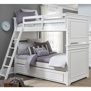 Item # A0170TT - Finish: White<br><br>Available in Warm Cherry Finish<br><br>Available in Twin/Full Bunk Bed<br><br>Dimensions: 68W x 82D x 70H