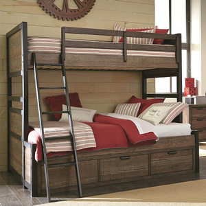 Item # A0015TF Twin/Full Bunk Bed - Finish: Tawny Brown<br><br>Available in Twin/Twin Bunk Bed<br><br>Dimensions: 67W x 80D x 70H