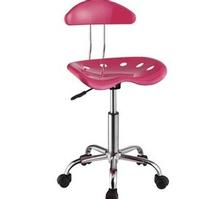 Item # 044CHR Pink & Chrome Adjustable Height Rolling Chair