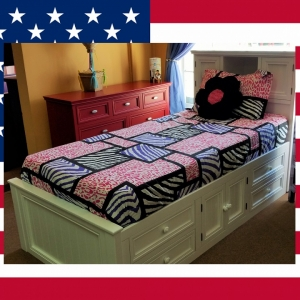 Item # US0032 Captain bed with Storage Headboard - Made in USA<br><br>Durable & Super Strong<br><br>Available in 33 Different Color<br><br>Modifications Available<br><br>Different Knob & Drawer Front Options<br><br>Made to order<br><br>Available in Twin, Full & Queen Size<br>