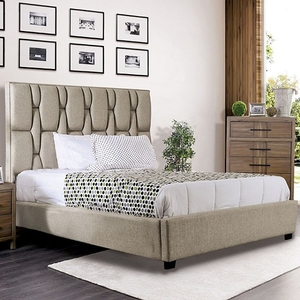 1185FB Full Bed - Style Contemporary<br> Color/Finish Beige, Frame Finish Black<br> Material Fabric, others, solid wood, wood veneer<br> Upholstery Color Beige<br> Product Dimensions Full Bed 84