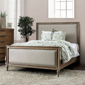 1168FB Full Bed - Style Rustic<br> Color/Finish Beige rustic, natural tone<br> Material Wood, wood veneer, others. Upholstery Color Beige<br> Product Dimension<br> Full Bed 81 1/2