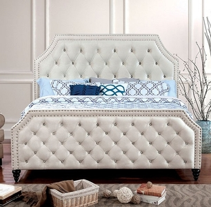 1181FB Full Bed - Style Contemporary<br> Color/Finish Beige<br> Material Fabric. Upholstery Color Beige<br> Product Dimension Full Bed 84 1/4