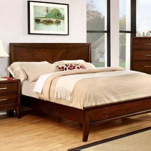 1171FB Full Bed in Brown Cherry  - Style Transitional<br> Color/Finish Brown Cherry<br> Material Solid wood, wood veneer, others<br> Number of Slats Full Bed 13 Slats & 4 supports<br>