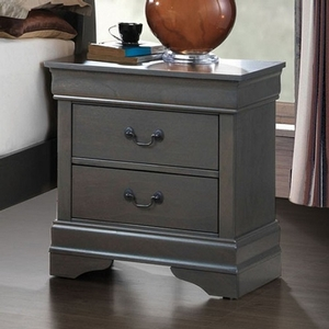 276NS Gray Night Stand - Style Contemporary<br>