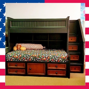 Item # US0002 Twin over twin Collin's loft bed - Made in USA<br><br>Durable & Super Strong<br><br>Available in 33 Different Color<br><br>Made to order<br><br>Modifications are available<br><br>Sizes Available: Twin/Full/Queen