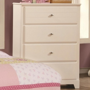 082CH 4 Drawer Chest - Matching case pieces have dovetail joinery with kenlin glides for a smooth and solid drawer foundation<br><br>Metal finish knobs accent drawer fronts<br><br>