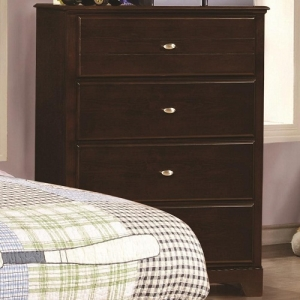 084CH 4 Drawer Chest - Matching case pieces have dovetail joinery with kenlin glides for a smooth and solid drawer foundation<br><br>Metal finish accent drawer fronts<br><br>