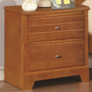 Item # 003NS Night Stand with 2 Drawers - Matching case pieces have dovetail joinery with kenlin glides for a smooth and solid drawer foundation<br><br>Metal finish knobs accent drawer fronts<br><br><b>