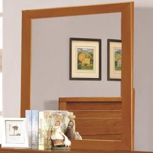880M Mirror with Transitional Design - <B>Finish:</b> Honey Oak<br><br><b>Dimensions:</b> Width: 1 x Depth: 35.25 x Height: 36