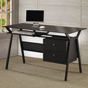 Item # 087D Computer Desk - Desk features a keyboard drawer and two storage drawers<br><Br>
