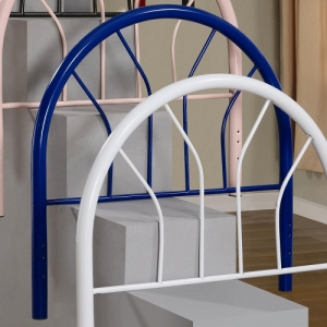 208HB Twin Blue Metal Headboard